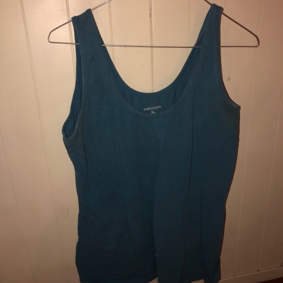 Maurices blue tank top size xl